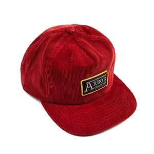Arbor Collective Red Corduroy 5 Panel SnapBack